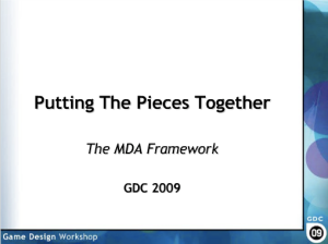 Putting the pieces together: The MDA Framework